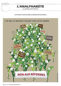 couverture n 04 mai 2010 l'Analphabète journal satirique