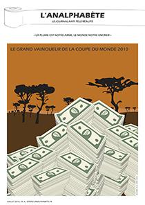 couverture n 06 juillet 2010 l'Analphabète journal satirique