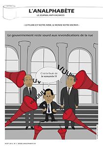 couverture n 07 août 2010 l'Analphabète journal satirique