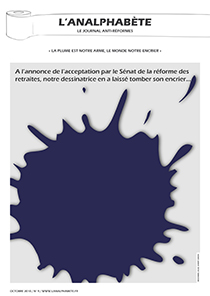 couverture n 09 octobre 2010 l'Analphabète journal satirique