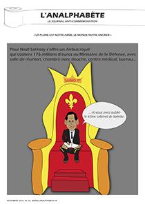 couverture n 10 novembre 2010 l'Analphabète journal satirique