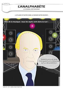 couverture n 17 juin 2011 l'Analphabète journal satirique