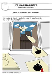 couverture n 22 novembre 2011 l'Analphabète journal satirique