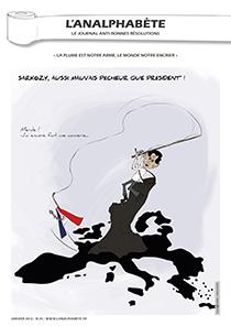 couverture n 24 janvier 2012 l'Analphabète journal satirique