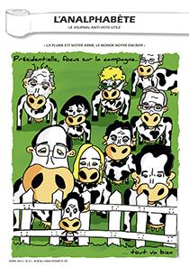 couverture n 27 avril 2012 l'Analphabète journal satirique