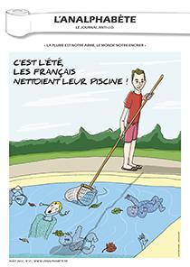 couverture n 31 août 2012 l'Analphabète journal satirique