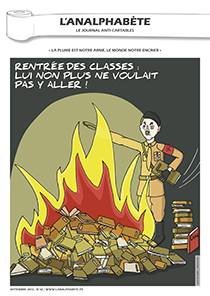 couverture n 32 septembre 2012 l'Analphabète journal satirique