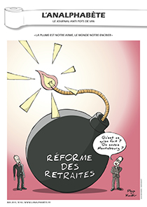 couverture n 40 mai 2013 l'Analphabète journal satirique