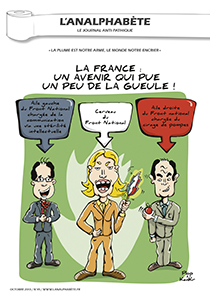 couverture n 45 octobre 2013 l'Analphabète journal satirique