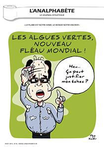 couverture n 55 août 2014 l'Analphabète journal satirique