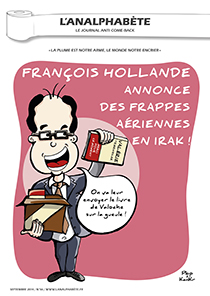 couverture n 56 septembre 2014 l'Analphabète journal satirique