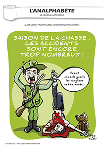 couverture n 57 octobre 2014 l'Analphabète journal satirique