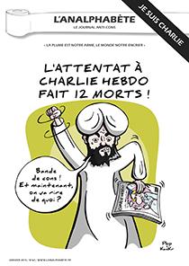 couverture n 60 janvier 2015 l'Analphabète journal satirique