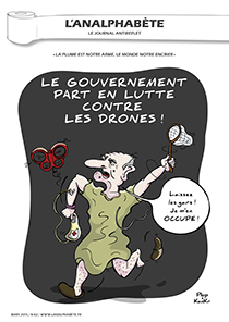 couverture n 62 mars 2015 l'Analphabète journal satirique