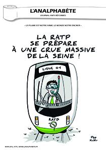 couverture n 74 mars 2016 l'Analphabète journal satirique