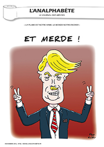 couverture n 82 novembre 2016 l'analphabète journal satirique